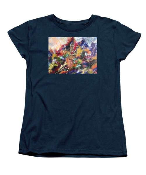 Women's T-Shirt (Standard Cut) featuring the painting The Chair  by Lori Lovetere