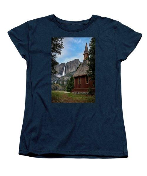 The Chapel Women's T-Shirt (Standard Cut) by Sean Foster