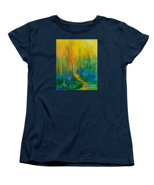 Women's T-Shirt (Standard Cut) featuring the painting The Chosen Path  by Alison Caltrider