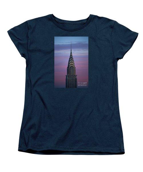 The Chrysler Building At Dusk Women's T-Shirt (Standard Cut) by Diane Diederich