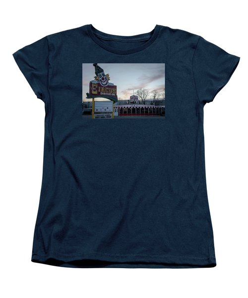 Women's T-Shirt (Standard Cut) featuring the photograph The Circus Drive In Wall Township Nj by Terry DeLuco