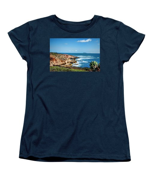 Women's T-Shirt (Standard Cut) featuring the photograph The Cliffs Of Point Loma by Daniel Hebard