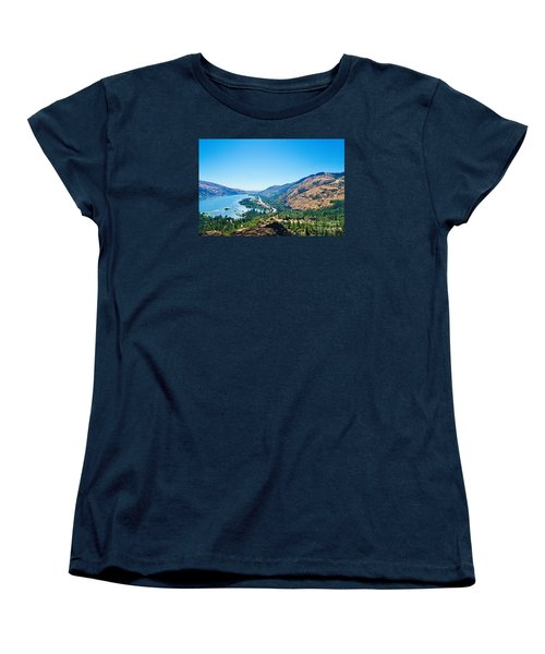 The Columbia River Gorge Women's T-Shirt (Standard Cut) by Ansel Price