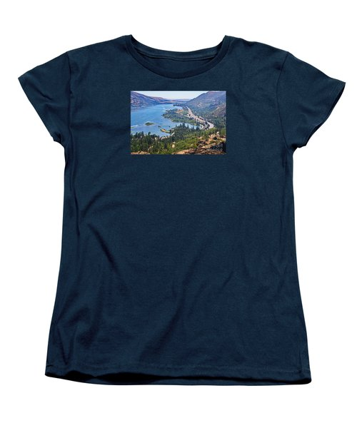 The Columbia River In The Gorge Women's T-Shirt (Standard Cut) by Ansel Price