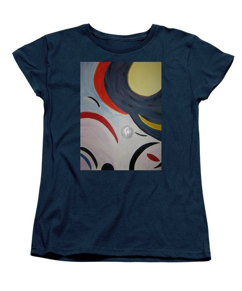 Women's T-Shirt (Standard Cut) featuring the painting The Cosmos by Barbara Yearty