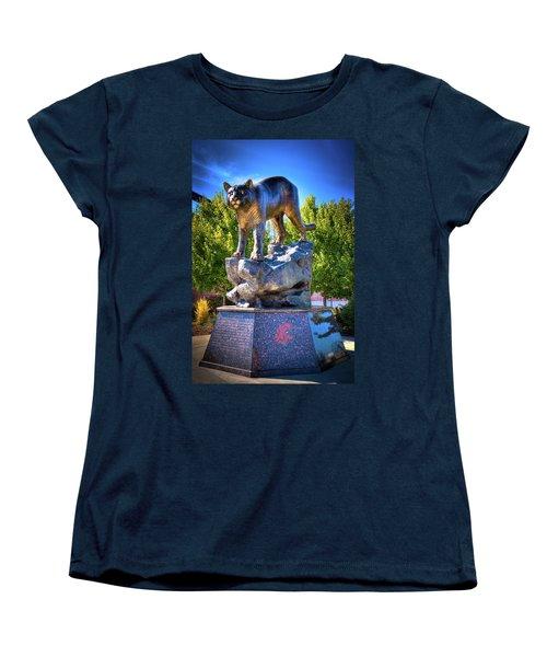 The Cougar Pride Sculpture Women's T-Shirt (Standard Cut) by David Patterson
