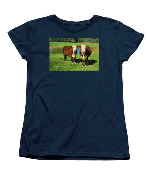 The Cow Girls Women's T-Shirt (Standard Cut) by Sandi OReilly