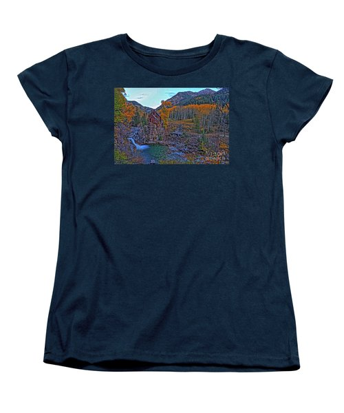 Women's T-Shirt (Standard Cut) featuring the photograph The Crystal Mill by Scott Mahon