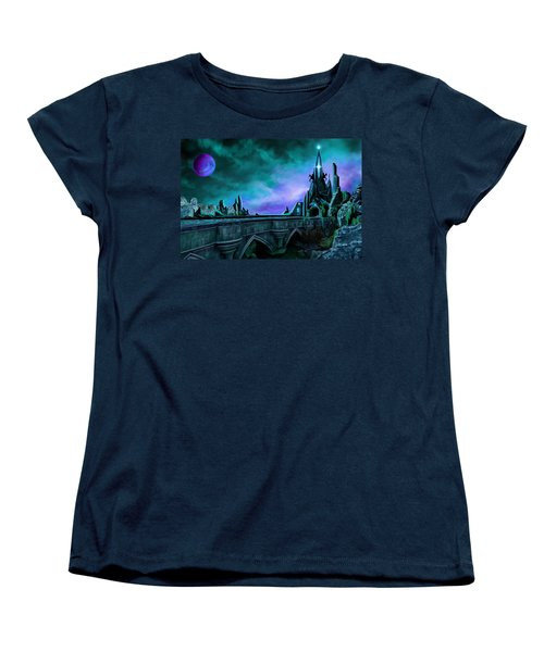 Women's T-Shirt (Standard Cut) featuring the painting The Crystal Palace - Nightwish by James Christopher Hill