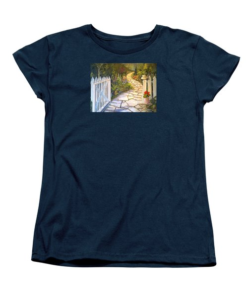 The Cutting Garden Women's T-Shirt (Standard Cut) by Alan Lakin
