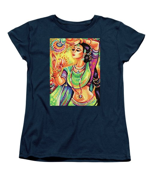 Women's T-Shirt (Standard Cut) featuring the painting The Dance Of Tara by Eva Campbell