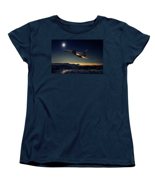 The Dark Knight Women's T-Shirt (Standard Cut) by Peter Chilelli