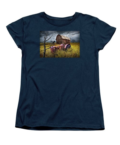 Women's T-Shirt (Standard Cut) featuring the photograph The Decline And Death Of The Small Farm by Randall Nyhof