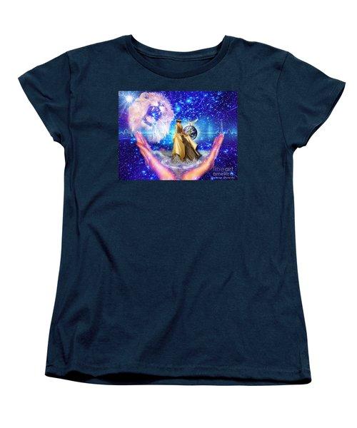 Women's T-Shirt (Standard Cut) featuring the digital art The Depth Of Gods Love by Dolores Develde