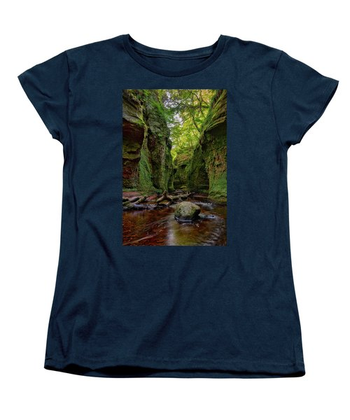 The Devil Pulpit At Finnich Glen Women's T-Shirt (Standard Cut) by Jeremy Lavender Photography