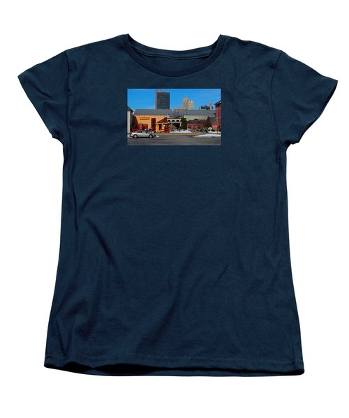 Women's T-Shirt (Standard Cut) featuring the photograph The Docks by Michiale Schneider