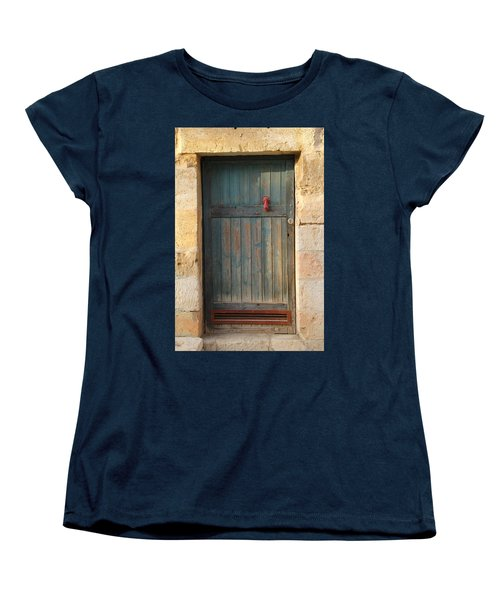 Women's T-Shirt (Standard Cut) featuring the photograph The Door And The Hand by Yoel Koskas