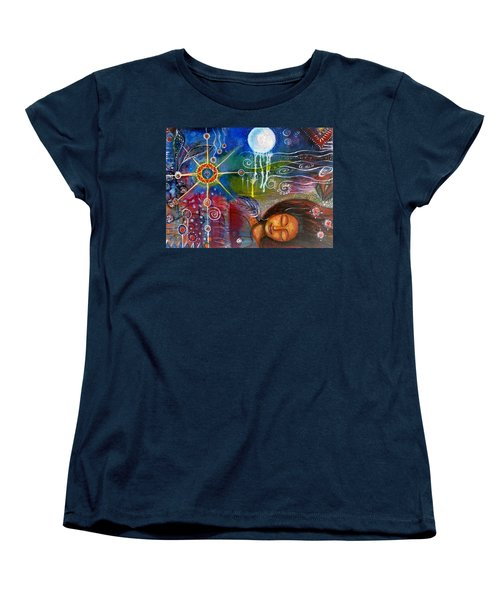 Women's T-Shirt (Standard Cut) featuring the painting The Dreamer by Prerna Poojara