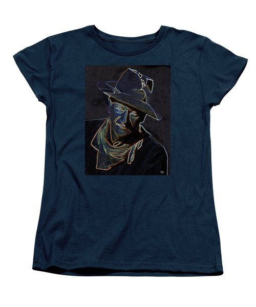 Women's T-Shirt (Standard Cut) featuring the mixed media The Duke by Charles Shoup