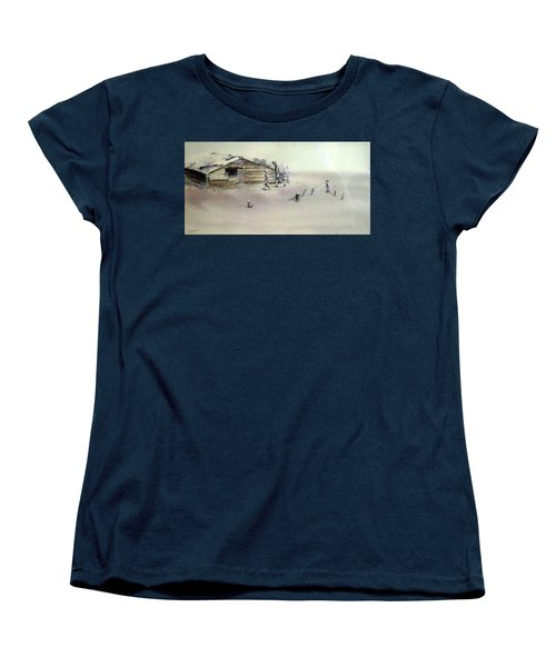 The Dustbowl Women's T-Shirt (Standard Cut) by Ed Heaton