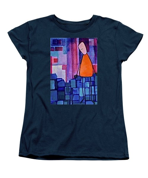 Women's T-Shirt (Standard Cut) featuring the painting The Edge by Donna Howard