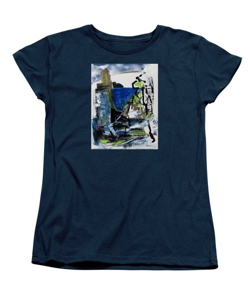 Women's T-Shirt (Standard Cut) featuring the painting The Elements by Betty Pieper