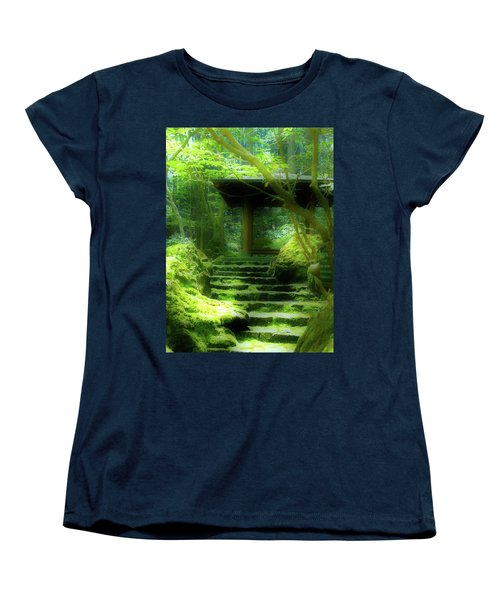 Women's T-Shirt (Standard Cut) featuring the photograph The Emerald Stairs by Tim Ernst