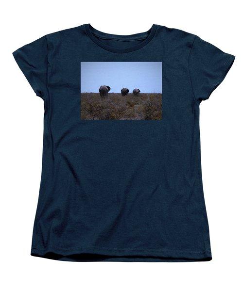 Women's T-Shirt (Standard Cut) featuring the digital art The End by Ernie Echols