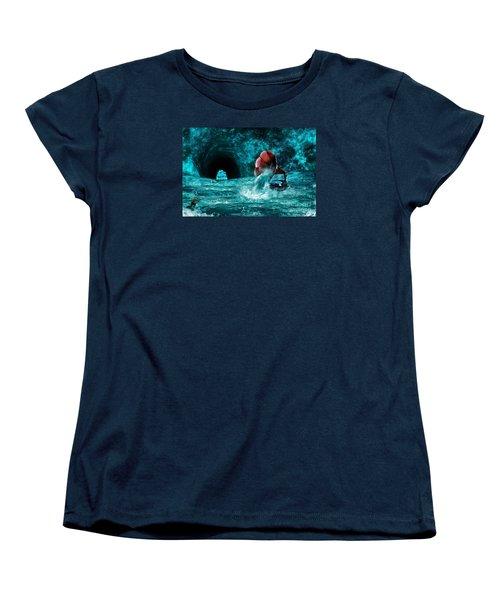 Women's T-Shirt (Standard Cut) featuring the digital art The Eternal Ballad Of The Sea by Olga Hamilton