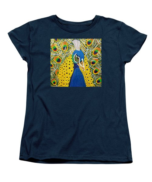 The Eye Of The Peacock Women's T-Shirt (Standard Cut) by Margaret Harmon