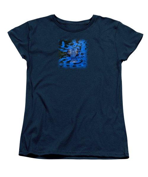 The Eyes Of A Florida Alligator Women's T-Shirt (Standard Cut) by John Harmon