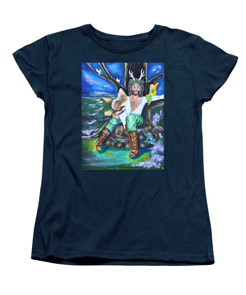 The Faery King Women's T-Shirt (Standard Cut) by Diana Haronis