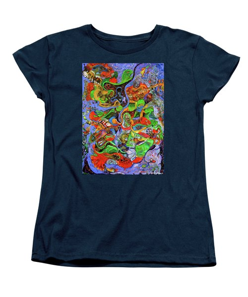 The Fiddle Player Women's T-Shirt (Standard Cut) by Lee Ransaw