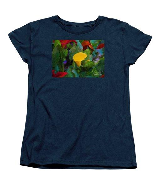 Women's T-Shirt (Standard Cut) featuring the photograph The Flowers In Juarez Park by John Kolenberg