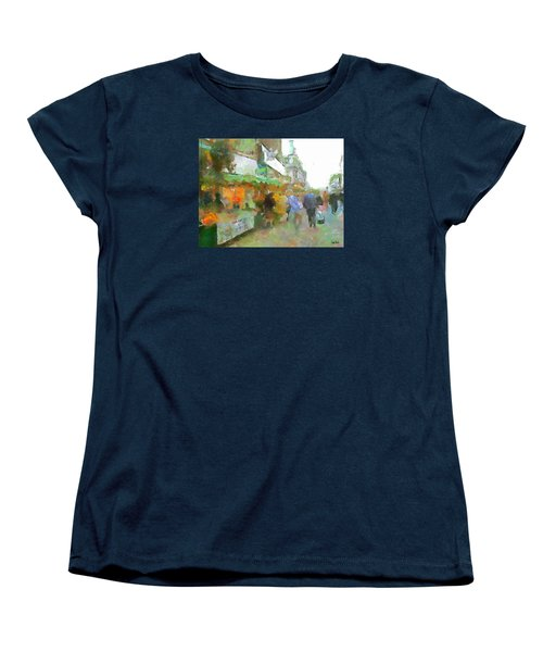 Women's T-Shirt (Standard Cut) featuring the painting The Food Fair by Wayne Pascall