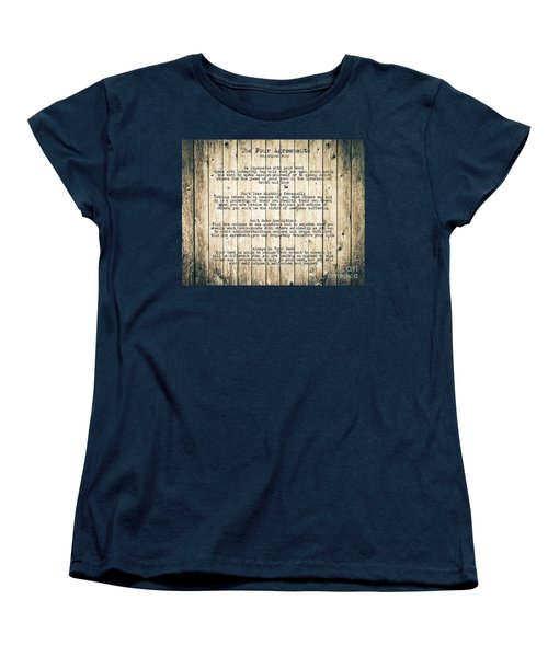 The Four Agreements 8 Women's T-Shirt (Standard Cut) by Andrea Anderegg