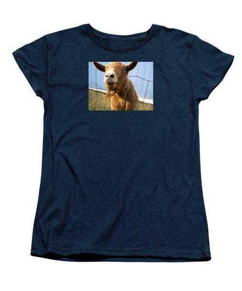The Friendly Goat  Women's T-Shirt (Standard Cut) by Sandra Church