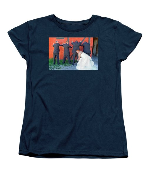 The Frisky Bride Women's T-Shirt (Standard Cut) by Keith Armstrong