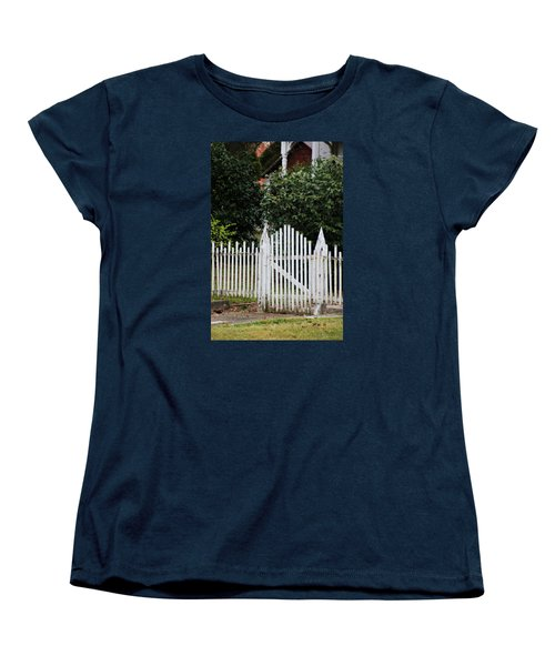The Front Gate Women's T-Shirt (Standard Cut) by Lynn Jordan
