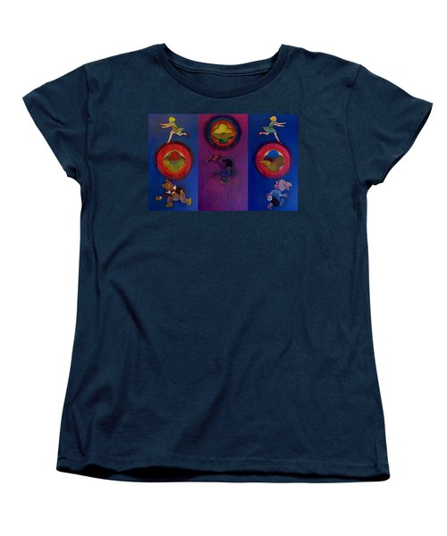 Women's T-Shirt (Standard Cut) featuring the painting The Fruit Machine Stops II by Charles Stuart