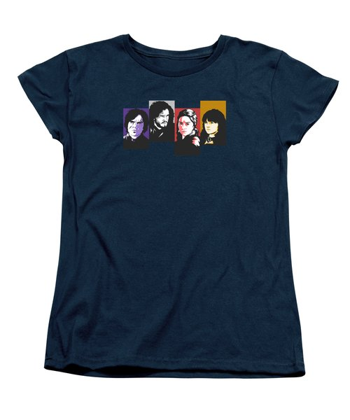 The Game Of Thrones My Favourite Characters 80s Style Jon Snow Khaleesi Tyrion Lannister Bran Stark Women's T-Shirt (Standard Cut) by Paul Telling
