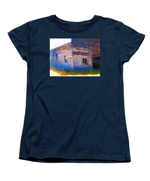 Women's T-Shirt (Standard Cut) featuring the photograph The Garage by Susan Kinney