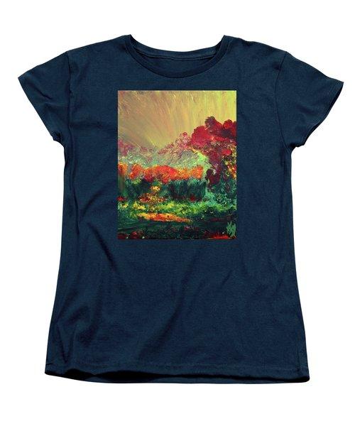 The Garden Women's T-Shirt (Standard Cut) by Karen Nicholson