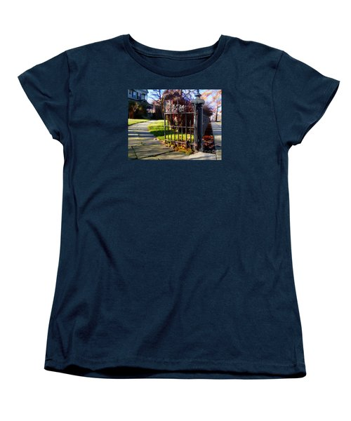 Women's T-Shirt (Standard Cut) featuring the photograph The Gate by Betsy Zimmerli