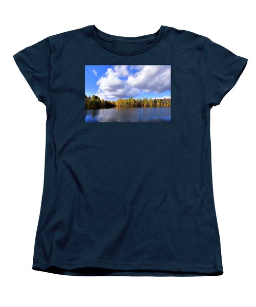 Women's T-Shirt (Standard Cut) featuring the photograph The Golden Forest At Woodcraft by David Patterson