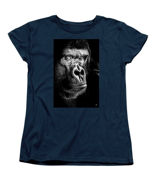 The Gorilla Large Canvas Art, Canvas Print, Large Art, Large Wall Decor, Home Decor Women's T-Shirt (Standard Cut) by David Millenheft