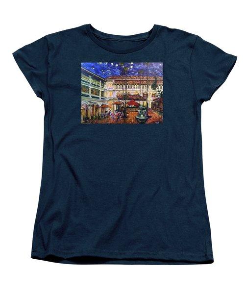 The Grand Dame's Courtyard Cafe  Women's T-Shirt (Standard Cut) by Belinda Low