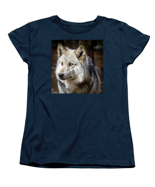Women's T-Shirt (Standard Cut) featuring the photograph The Gray Wolf by Teri Virbickis