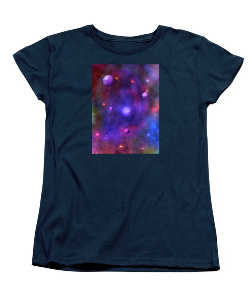 Women's T-Shirt (Standard Cut) featuring the digital art The Great Unknown by Bernd Hau