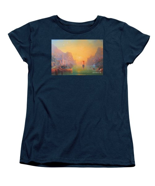 The Grey Havens. The Gulls Lament.  Oil On Canvas Women's T-Shirt (Standard Cut) by Joe  Gilronan